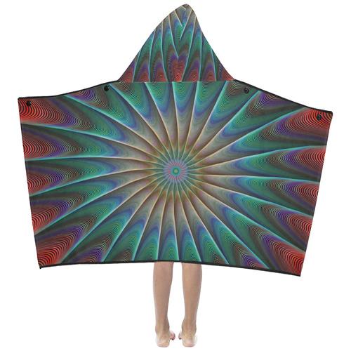 Fractal Hooded Towel Kids' Hooded Bath Towels