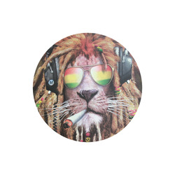 round rasta lion mouse mat pad Round Mousepad