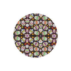 round sugar skull pattern mouse mat pad Round Mousepad