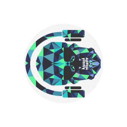 Round DJ skull mouse mat pad Round Mousepad