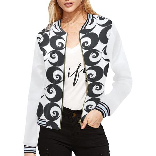 Fibonacci rose pattern 6 All Over Print Bomber Jacket for Women (Model H21)