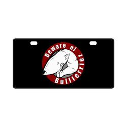 Beware Of Bull Terrier License Plate