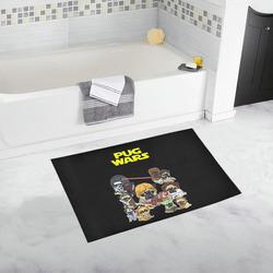 Pug Wars Bath Rug 20''x 32''