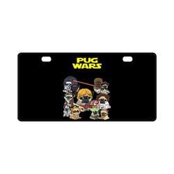 Pug Wars License Plate
