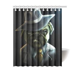 """Pugster Boss Shower Curtain 60""""x72"""""""