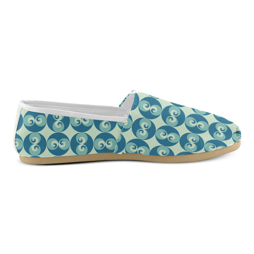 spiral-rose-2-pattern Unisex Casual Shoes (Model 004)