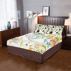 tea party 3-Piece Bedding Set