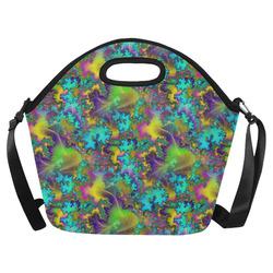 Flower Child Neoprene Lunch Bag/Large (Model 1669)