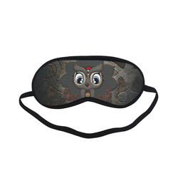 Funny steampunk owl Sleeping Mask