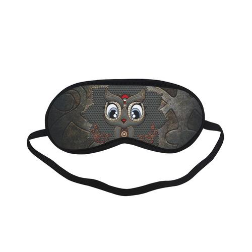 Funny steampunk owl Sleeping Mask