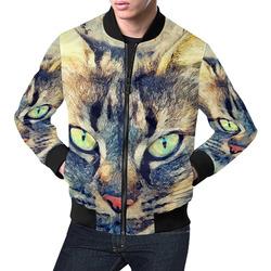 cat Simba All Over Print Bomber Jacket for Men (Model H19)