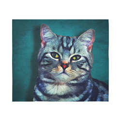 "cat Bella #cat #cats #kitty Cotton Linen Wall Tapestry 60""x 51"""