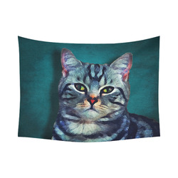 "cat Bella #cat #cats #kitty Cotton Linen Wall Tapestry 80""x 60"""