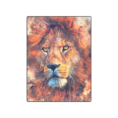 "lion art #lion #animals #cat Blanket 50""x60"""