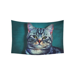 "cat Bella #cat #cats #kitty Cotton Linen Wall Tapestry 60""x 40"""