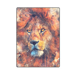 "lion art #lion #animals #cat Blanket 58""x80"""