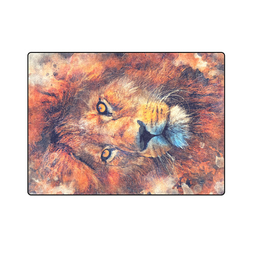 "lion art #lion #animals #cat Blanket 58""x80"""