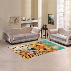 gepard leopard #gepard #leopard #cat Area Rug 5'x3'3''