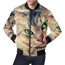 cat Pixie #cat #cats #kitty All Over Print Bomber Jacket for Men (Model H19)