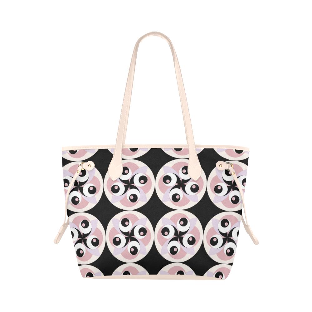 spiral-rose-4 Clover Canvas Tote Bag (Model 1661)