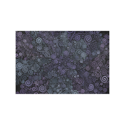 3d Psychedelic Ultra Violet Powder Pastel Placemat 12'' x 18'' (Four Pieces)