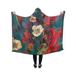 flora 3 Hooded Blanket 50''x40''