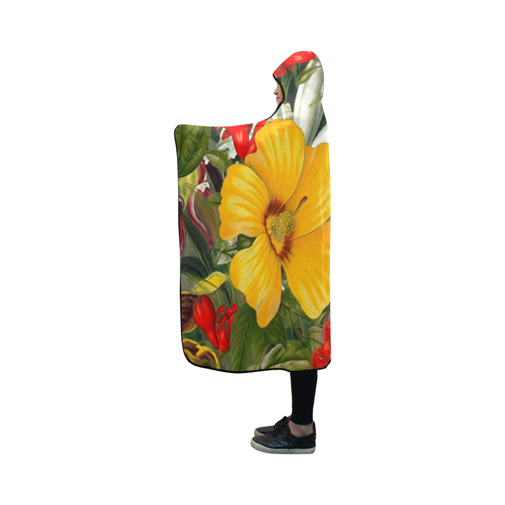flora 1 Hooded Blanket 50''x40''