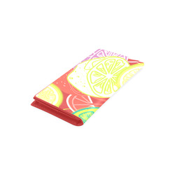 Loudly Lime Red Women's Leather Wallet (Model 1611)
