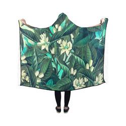 flowers Hooded Blanket 50''x40''