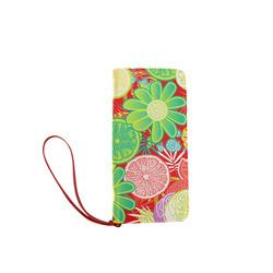 Loudly Lime Red Women's Clutch Wallet (Model 1637)