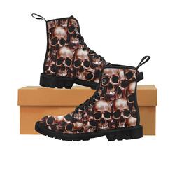 Lg Skull wall Martin Boots for Men (Black) (Model 1203H)