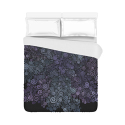 """3d Psychedelic Ultra Violet Powder Pastel Duvet Cover 86""""x70"""" ( All-over-print)"""