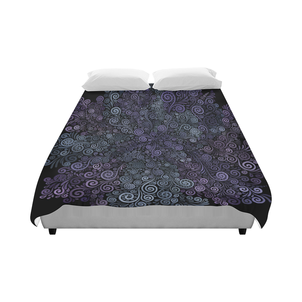 "3d Psychedelic Ultra Violet Powder Pastel Duvet Cover 86""x70"" ( All-over-print)"
