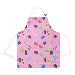 Little Purses and Pink Polka Dots All Over Print Apron