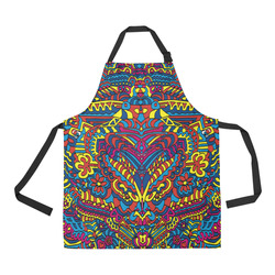 Groovy  Doodle Colorful Art All Over Print Apron