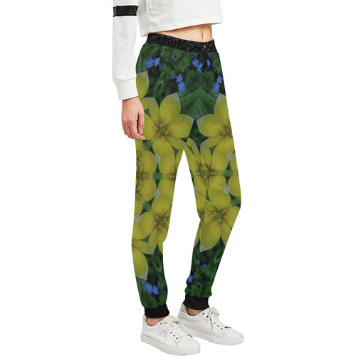 fantasy plumeria decorative real and mandala Women's All Over Print Sweatpants (Model L11)